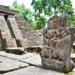 Ancient erotic Candi Sukuh-Hindu Temple on  Java, Indonesia - Stock Photo