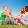 Tree couple , man and woman practice Yoga asana — Stock Photo