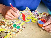 Javanais wayang kulit travailleur couleur célèbre marionnette — Photo