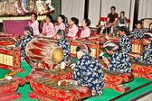 Musician of Wayang Kulit in Yogyakarta on Java, Indonesia. — Stock Photo