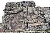Stone craft in Candi Jago Temple and memorial to Singosari king — Stock Photo