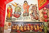 Interior de eng un kiong templo chino en malang en java — Foto de Stock