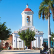 Church in the Cespedes square of Trinidad — Stock Photo