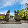 Entrance in Tanah Lot Temple, the most important hindu temple of - Stock Photo