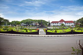 Monument tower on Tugu Square in Malang on Java, Indonesia. — Stock Photo