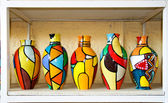 Color full collection of vases — Stock Photo