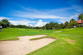 Golf course on the hill at Bali — Stock Photo