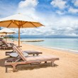 Beautiful Sanur beach on Bali - Stock Photo