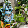 Traditional balinese warrior monster secure the temple — Stock Photo