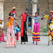 Street dancers in Havana. Cuba - Stock Photo