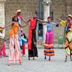 Street dancers in Havana. Cuba — Stock Photo