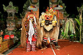 Beasts in Barong and Keris dance performed in Bali, Indonesia. — Stock Photo