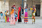 Street dancers in Havana. Cuba — Stock Photo