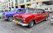 Classic american cars in Havana. Cuba. — Stock Photo