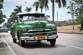 Classic green Plymouth in Havana, Cuba. — Stock Photo
