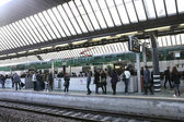 Caos on train — Stock Photo