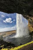 Waterfall Seljalandsfoss — Stock Photo