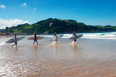Surf a Zarautz — Stock Photo