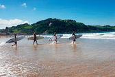 Surf a Zarautz — Stock Photo