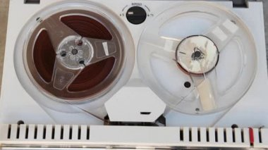 Old tape recorder — Stock Video
