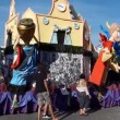 Stock Video: Carnival float