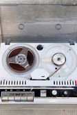 Jammed Old tape reel — Stock Photo