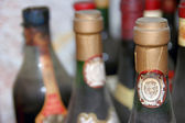 Old wine bottles — Stock Photo