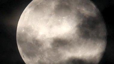 Full moon detail — Stock Video