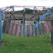 Dilapidated playground - Stock Photo
