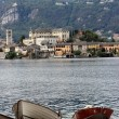 Boat and Orta Lake — Stock Photo