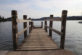 Jetty on lake — Stock Photo
