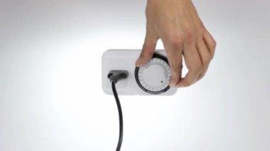 Time klok socket — Stockvideo