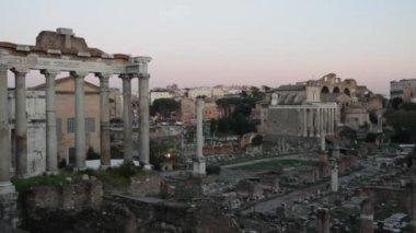Roman ruins in Rome — Stock Video