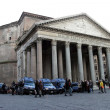 Stock Photo: Pantheon exterior with strong police guard
