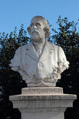 Menotti Garibaldi statue in Janiculum gardens, Rome — Stock Photo