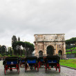 Carriages in Rome - Stock Photo