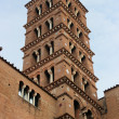 Church tower , Rome, Italy - Stock Photo