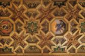 Baroque ceiling in Santa Maria in Trastevere, Rome — Stock Photo
