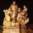 Statue at night in Rome - Stock Photo