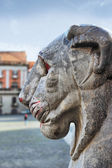 Lion statue in Naples , Italy — Stock Photo