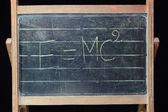 Theory of relativity formula — Stock Photo