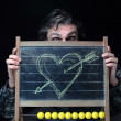 Romantic chalkboard — Stock Photo