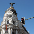 Metropolis building facade, Madrid, Spain - Stock Photo