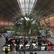 Atocha railway station interior in Madrid, Spain — Stock Photo