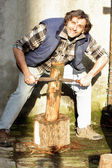 Carving log — Stock Photo