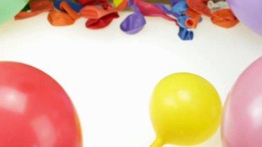 Pump and balloons — ストックビデオ