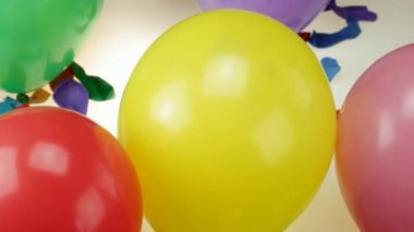 Balloons bursts — Stock Video