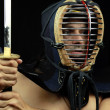 Kendo fighter — 图库照片