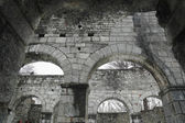 Romanesque church in ruin — Stock Photo