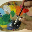 Stock Video: Traditional artist's palette